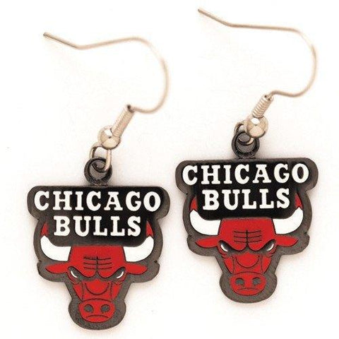 Chicago Bulls Dangle Earrings By Wincraft
