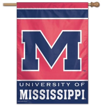 "University of Mississippi Rebels (Ole Miss) 27"" x 37"" Vertical Flag"