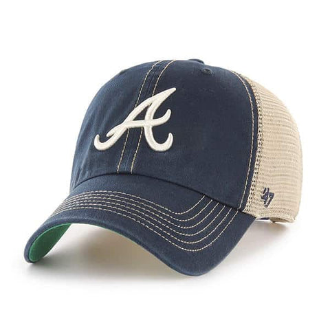 '47 Brand Atlanta Braves Navy/Natural Trawler Clean Up Adjustable Hat