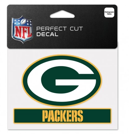 "Green Bay Packers 4.75""X5.75"" Perfect Cut Decal"