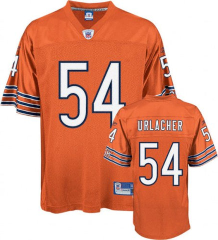 Brian Urlacher Orange Alternate Reebok Authentic Jersey