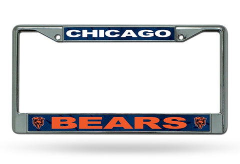 Chicago Bears Chrome License plate Frame By Rico
