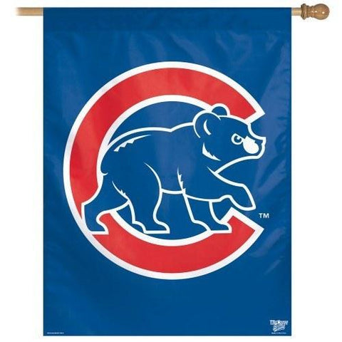 Chicago Cubs Walking Bear Logo 27X37 Vertical Flag