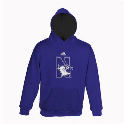 adidas Northwestern Wildcats Youth Pullover Hooded Sweatshirt - Purple