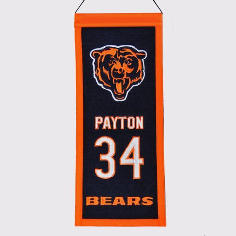 Walter Payton Chicago Bears Legacy Banner By Winning Streak