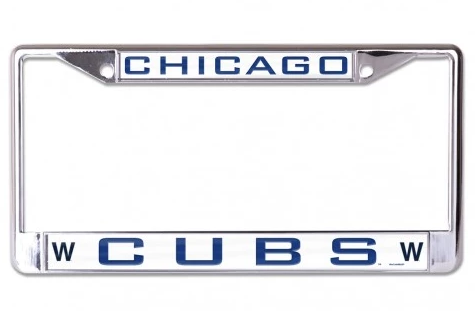 Chicago Cubs Inlaid Metallic License Plate Frame