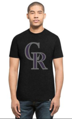 '47 Brand Men's MLB Colorado Rockies Black Flanker Tee