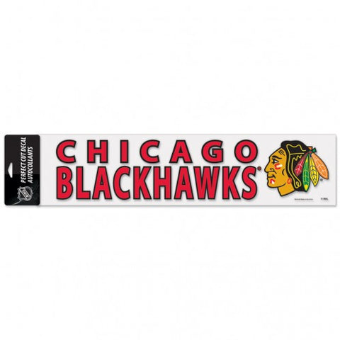 "WinCraft NHL Chicago Blackhawks Perfect Cut Decal 4"" x 17"