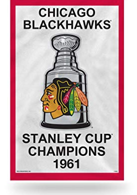 Chicago Blackhawks 1961 Stanley Cup Banner Pennant