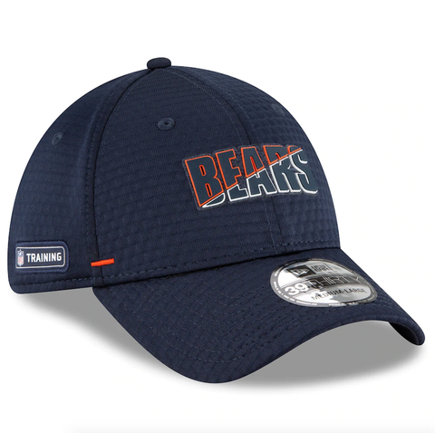 Chicago Bears New Era 2020 NFL Summer Sideline Official 39THIRTY Flex Hat - Navy