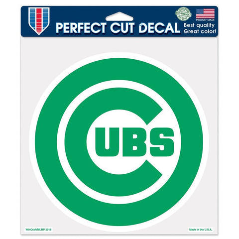 Chicago Cubs 8X8 Green Perfect Cut Decal