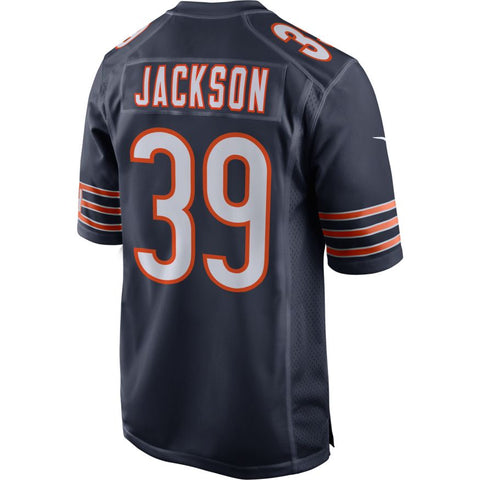 Chicago Bears Eddie Jackson Mens Nike Navy Replica Game Jersey