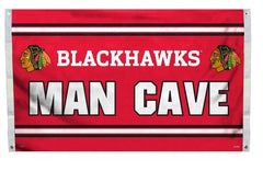 Chicago Blackhawks NHL Man Cave 3X5 Flag