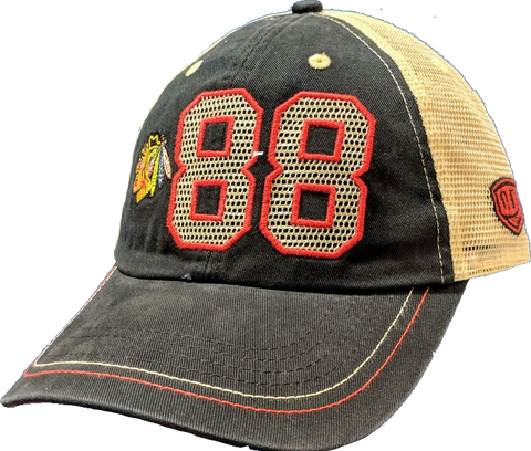 Chicago Blackhawks Patrick Kane Trey Adjustable Meshback Old Time Hockey Hat