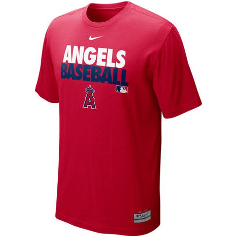 Nike Los Angeles Angels of Anaheim Graphic Dri-FIT Performance T-Shirt - Red