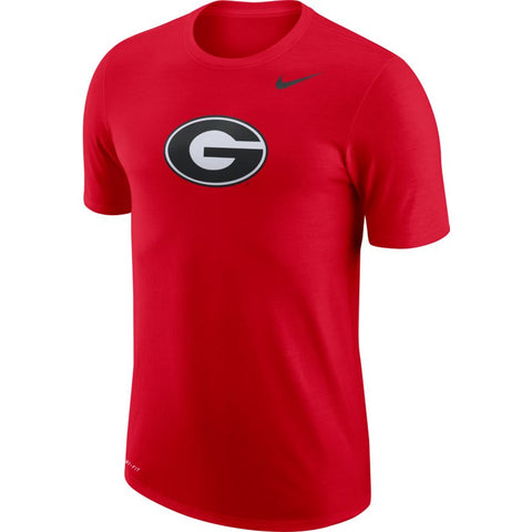 Men's Nike Georgia Bulldogs Red Logo Tee