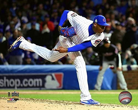 "Aroldis Chapman Chicago Cubs 2016 World Series Action Photo (Size: 8"" x 10"")"