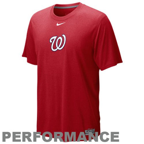 NIKE Washington Nationals Red Team Issue Legend Logo Performance T-shirt