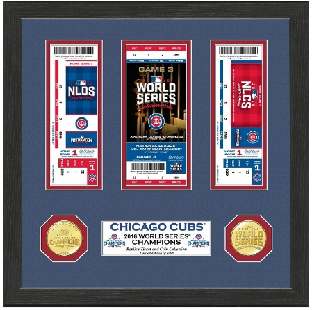 MLB Chicago Cubs 2016 World Series Champions Bronze Coin Ticket Collection