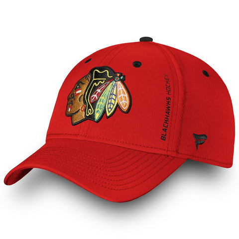 Chicago Blackhawks Fanatics Branded Authentic Pro Rinkside Red Speed Flex Hat