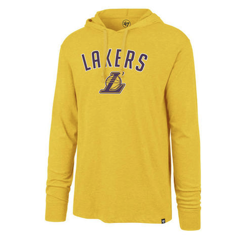Mens Los Angeles Lakers '47 NBA Focus Club Hood Long Sleeve T-Shirt