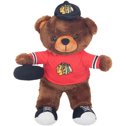 "Chicago Blackhawks Clubhouse Buddy 12"" Plush Bear"
