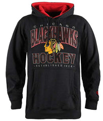 Chicago Blackhawks Adult BLACKOPS Pullover Fleece Hooded Sweatshirt By Old Time Hockey