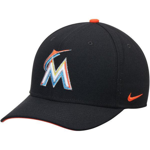 Miami Marlins Nike Black Wool Classic Adjustable Performance Hat