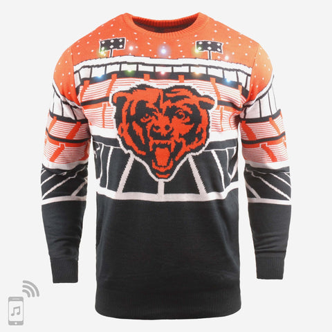 Chicago Bears Light Up Bluetooth Sweater By Foco