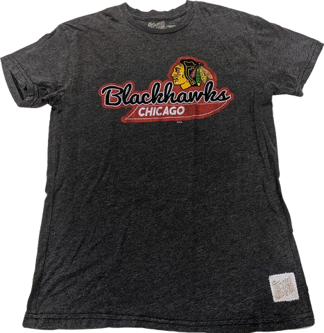 Men's Chicago Blackhawks Retro Brand Vintage Tail Sweep Tee