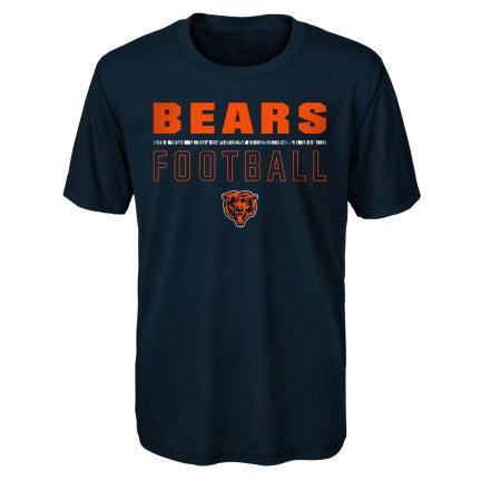 Chicago Bears Youth Navy Launch Dri-Tek Short Sleeve Tee