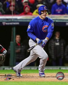 Anthony Rizzo Chicago Cubs 2016 World Series Action Shot
