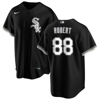 NIKE Men's Luis Robert Chicago White Sox Black Alternate Premium Stitch Replica Jersey