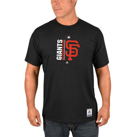 Men's MLB San Francisco Giants Majestic Black Authentic Collection Team Icon T-Shirt