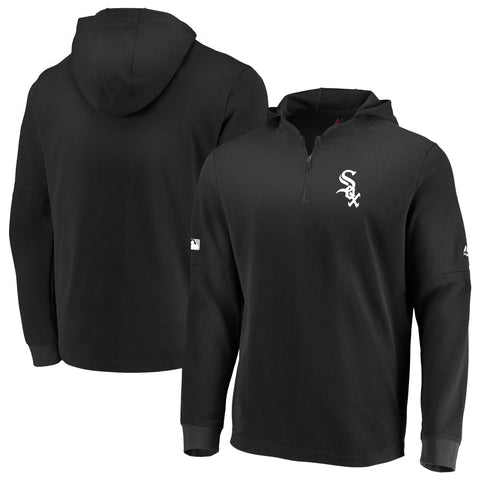 Men's Chicago White Sox Authentic Collection BP Waffle Long Sleeve Hooded Top