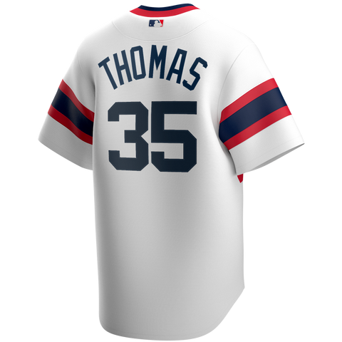 Men's Chicago White Sox Frank Thomas Cooperstown Collection Nike White Home Alternate Replica Team Jersey