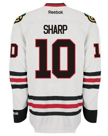 Mens Chicago Blackhawks Patrick Sharp Authentic Road Jersey