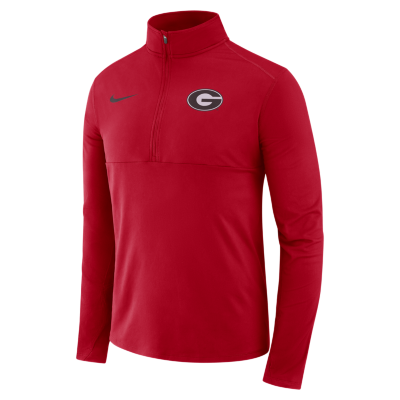 Nike Men's Georgia Bulldogs Red Core Half-Zip Shirt