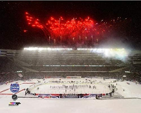 "Chicago Blackhawks vs. Pittsburgh Penguins Soldier Field 2014 Stadium Series Photo (Size: 8"" x 10"")"