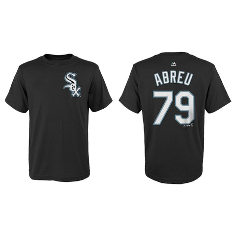 Youth Chicago White Sox Jose Abreu Black Name And Number Tee
