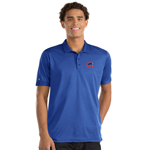 Mens Chicago Cubs Clutch Polo By Antigua