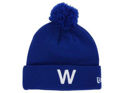 "Chicago Cubs MLB ""W"" Cuffed Pom Knit Hat"
