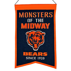 Chicago Bears Monsters Of The Midway Franchise Traditions Banner
