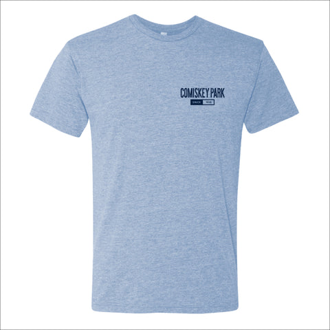 Men's Comiskey Park Heather Blue Smokey Arch Tee