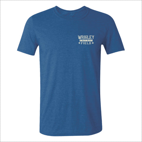 Men's Wrigley Field Roped In Heather Royal Aerial Shot Tee