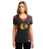 Women's Chicago Blackhawks Draft Me Short Sleeve Criss-Cross Deep V-Neck Tee
