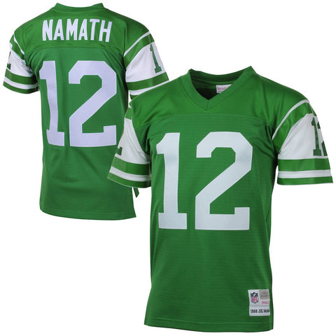 Mens New York Jets Joe Namath Mitchell & Ness Green 1968 Retired Player Vintage Replica Jersey