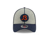 "Chicago Bears 2019 Established Collection Sideline 1920 Home ""B"" Logo Gray/Navy 39THIRTY Flex Hat"