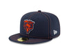 Chicago Bears Established 2019 On Field Sideline Bear Head Logo Road 59FIFTY Fitted Hat