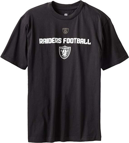 Youth Las Vegas Raiders Black Line Of Football Tee